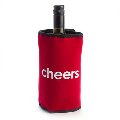 Cheers Wine Cooler Red Novelty Bottle Holder Bag Party Gift