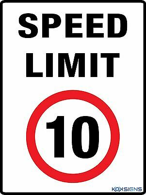 Speed Limit 10Kph -- 600 X 450Mm - Colorbond / Metal Sign -- Road / Traffic Sign