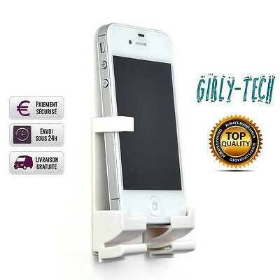 SUPPORT MURAL POUR TELEPHONE ET TABLETTE UNIVERSEL(IPhone/Samsung...) BLANC
