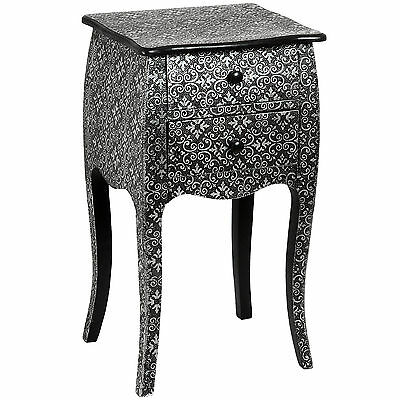 Marrakech 2 Drawer Bedside Cabinet - Add A Touch Of Elegance To Your Home.