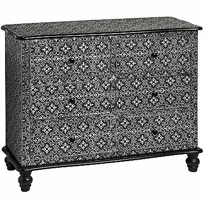 Marrakech Six Drawer Chest - A Stunning Wooden Large Chest With 6 Drawers.