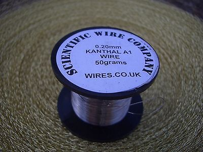 KANTHAL A1 RESISTANCE WIRE - 20 AWG - 20 GAUGE - 0.8mm - 2, 5 & 10 METRE LENGTHS