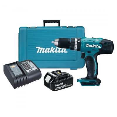 MAKITA DHP453SF 18v LXT Combi Drill with 1no 3.0Ah Battery &  DC18SD Charger