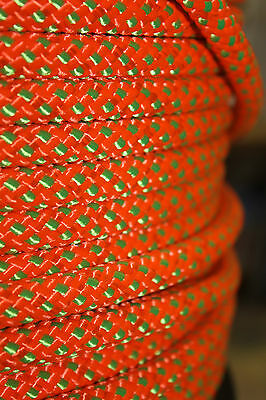 LSK Low Stretch Climbing / Abseiling Rope Orange OR Green 12mm NEW