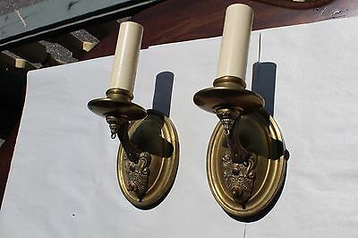 Pair Of Antique Wall Sconce Art Déco Candle Style Look Tudor Style