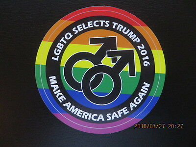 Trump Supports  Lgbtq Americans  Collectible Sticker - Buy 1 Get 1 Free