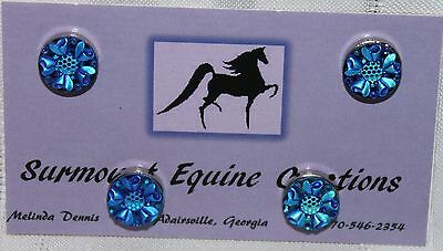Horse Show Number Magnets - Blue Rosette - Saddleseat, Hunt Seat, Western