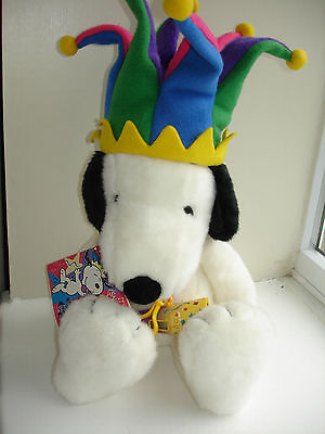 Snoopy Millennium Plush with Fleece Jester Hat Very Rare Macy's Limited Edition