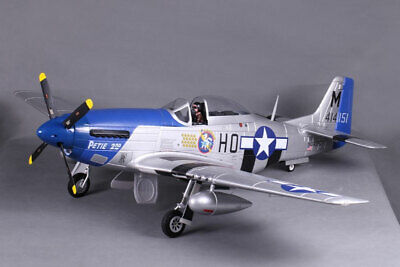 """FMS P-51D V8 Mustang """"Petie 2nd"""" 1.4m with Retracts, Lights, Flaps - no Tx/Rx/Ba"""