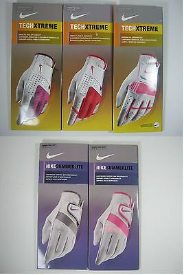 Nike SummerLite TechXtreme Golf Glove WOMENS Left Right S M ML L Pink Red Gray