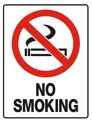 "Safety Sign ""NO SMOKING 5mm corflute 300MM X 225MM"""