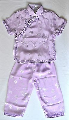 GIRLS CHINESE OUTFIT Lavender SHIRT TOP Asian Traditional DIVERSITY EDUCATION