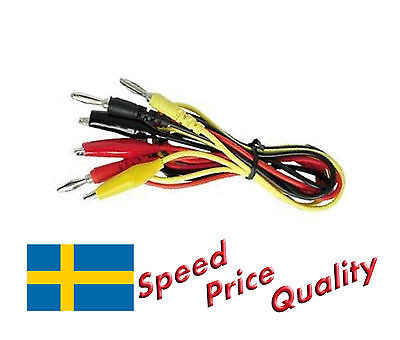 Test Wires / Leads with Crocodile Clips and Banana Plug - Fast Delivery