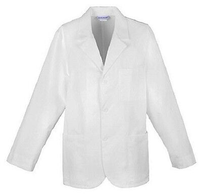 """Cherokee Med-Man 31"""" Men's Lab Coat Antimicrobial 1389A WHTD White Free Shipping"""