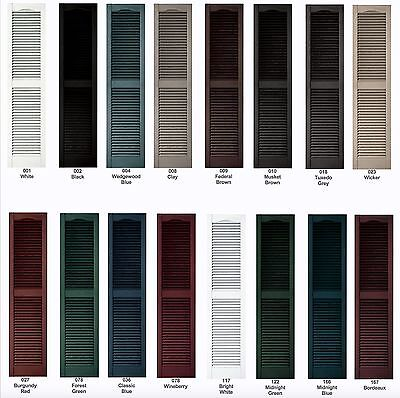 "Cathedral Louver Exterior Vinyl Shutters 64""- 72"" Quality With LIFETIME WARRANTY"