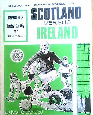 Scotland vs Ireland 1969 International Football Official Programme Hampden Park