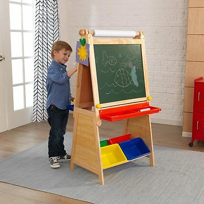 Drawing Chalkboard Kids Storage ART Dry Erase Surface 75ft Paper Roll Easels