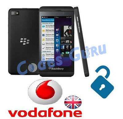Unlock Code Vodafone UK Blackberry Passport 9720 Playbook All Models by IMEI