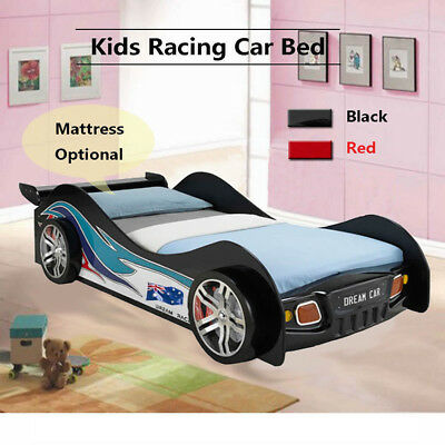 Kids Racing Car Bed Single Size Children Bedroom Furniture Kids Race Bedding