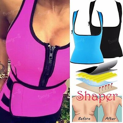 Latex Rubber Slimming Body Thermo Cami Hot Shaper Vest Sweat Running GYM Suit-DD