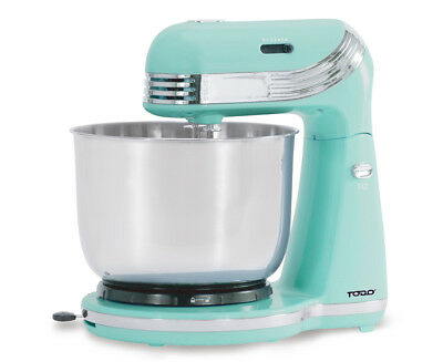 TODO  6 SPEED ELECTRIC STAND MIXER w/ STAINLESS STEEL BOWL RETRO BLUE XJ-13406