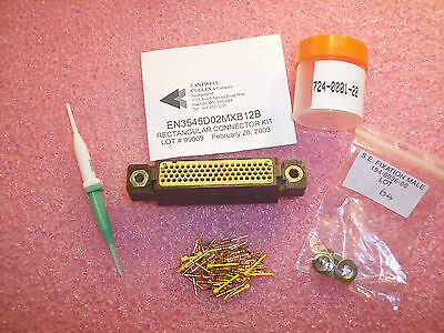 En3545D02Mxb12B Cantwell 78 Position Rectangular Connector Kit W/ Pin Contacts