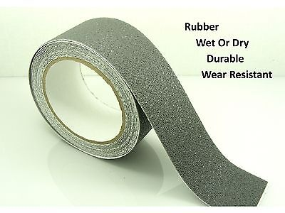 "GREY 50mm (2"") Wide RUBBER Anti NON Slip Safety TAPE ~Shower/ Tiles/ Bathtub~"