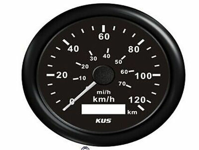 120 km/h  70mi/h MPH Car Auto Vehicle GPS Speedometer Black face Digital Gauges