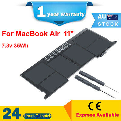 Replacement 7.3V 35Wh Battery for A1406 A1370 2011 MacBook Air 11 inch MC968xx/A