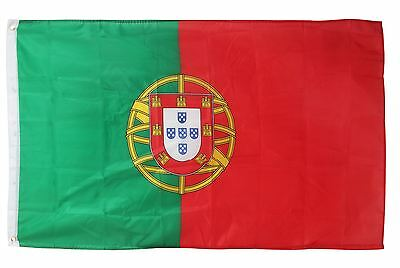 Portugal Flag Large 5ft x 3ft Portuguese Euro's Football