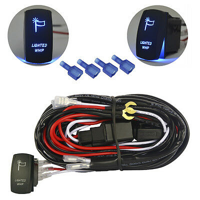 Relay Wiring Harness For  Conversion Kit,  Lighted whip blue led light Switch