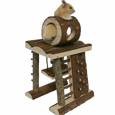 Boredom Breaker Activity Climbing Tower Hamster Mouse Small Animal Wooden