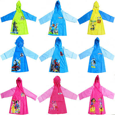 New Size 3-8 Kids Raincoat Dress Jacket Hoodie Cover Boys Girls Children Outwear