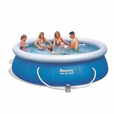 New Bestway 12Ft Easy Fast Set Kids Family Outdoor Garden Swimming Paddling Pool
