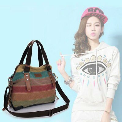 Fashion Shoulder Bag Satchel Crossbody Tote Women Handbag Purse Messenger Canvas