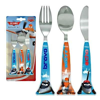Spearmark Childrens Disney Planes Knife Fork Spoon Cutlery Set Age 3 +