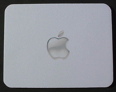 APPLE MAC GLASS APPLE PRINT MOUSEMAT MOUSEPAD MOUSE MAT PAD - can add own text