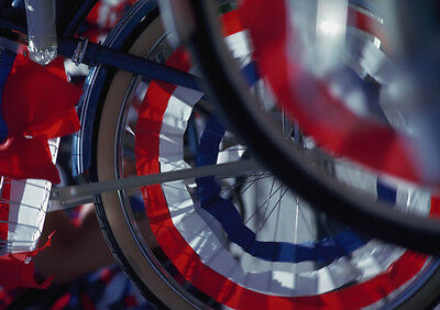 Art print POSTER Bicycle Wheels Ready For Fourth of July Parade