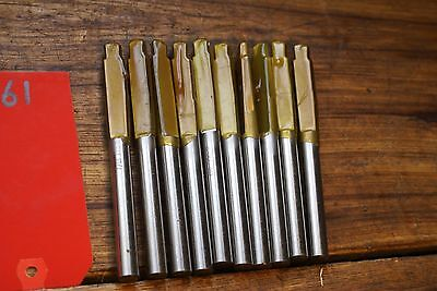 "Lot 10 Screw Machine Drills 7/16"" PTD HSS Drill reamer Qty 10"