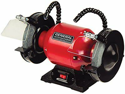 General International 6 inch 2 amp Bench Grinder with twin LED work lights