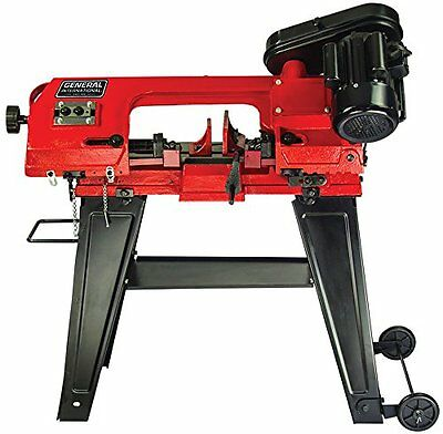 General International 4.5 inch Metal-Cutting Band Saw with stand