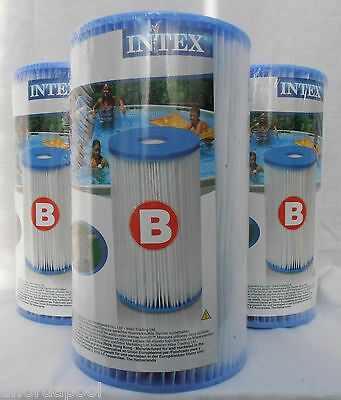 Intex Type B Pool Filter TRIPLE PACK. 29005. Also replacement for Type 4 / IV