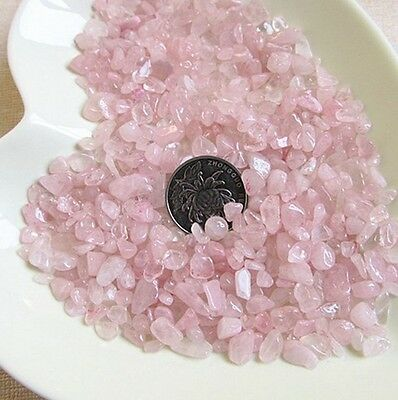 100g Natural Rose Quartz Raw Ore Crushed Gravel Crystal Stone Degaussing GSE