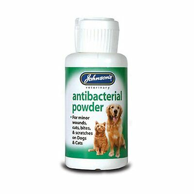 Johnsons Anti-Bacterial Antiseptic Powder for Cat & Dogs 20g for minor scratche