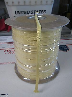 "1/8"" X 100' BRAIDED DUPONT KEVLAR cable pulling rope MIN BREAK 1300 lb tinsel ,"
