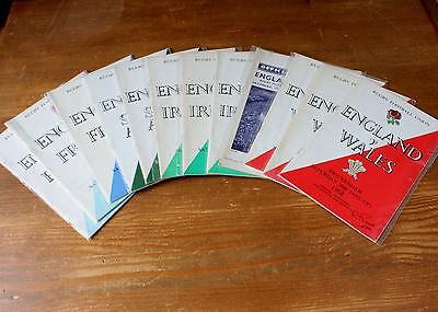 Rugby Union Programmes - England France South Africa Ireland Wales Scotland