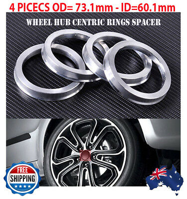 Top quality! Wheel Hub Centric Rings Spacer OD=73.1mm ID=60.1mm  Alloy SET OF 4