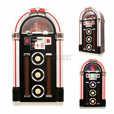 FoxHunter Jukebox Stereo MP3 CD Player USB FM Radio Bluetooth Full Size Classic