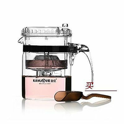 KAMJOVE Glass Gongfu Teapot Press Art Tea Cup Teapot with filter TP-140 300ml