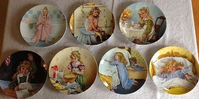 Complete Set of 7 Reco Knowles Collector Plates BECKY'S DAY John McClelland